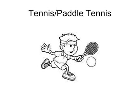 "Tennis/Paddle Tennis. History Tennis originated from a 12 th Century French game called ""Paume"" (meaning palm); it was a court game where the ball was."