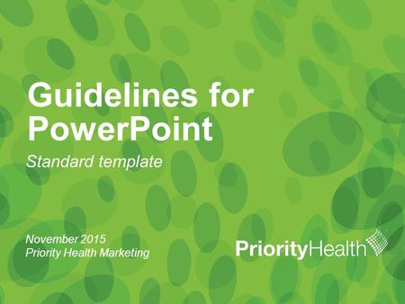 Guidelines for PowerPoint