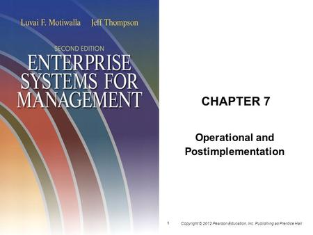 Operational and Postimplementation