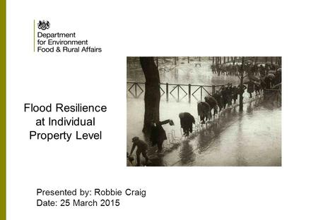 Flood Resilience at Individual Property Level