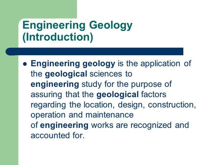 introduction to engineering geology pdf