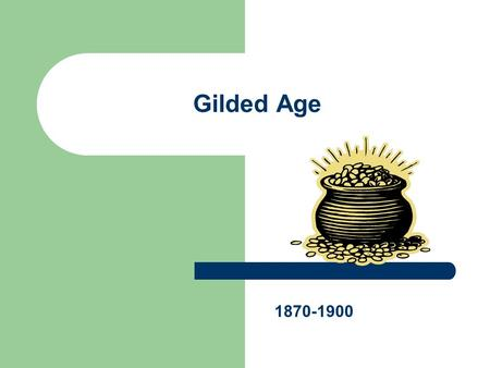 "Gilded Age 1870-1900. ""All that glitters is not gold"" -Shakespeare."