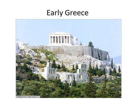Early Greece. Geography of Greece Greece is a small country located on a peninsula in Southern Europe with many islands. Peninsula ~ area of land surrounded.