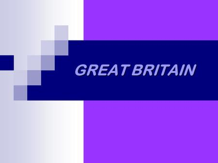 GREAT BRITAIN. GEOGRAPHY Great Britain consists of England, Scotland and Wales. It's an island. It's situated in the west of Europe. It's washed by the.