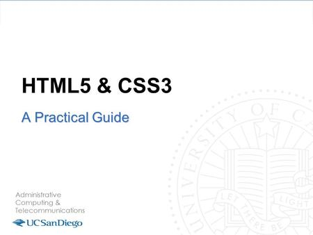 HTML5 & CSS3 A Practical Guide. HTML5 is more than HTML5 HTML5 Spec CSS3 Spec Web Fonts JavaScript to tie it all together.