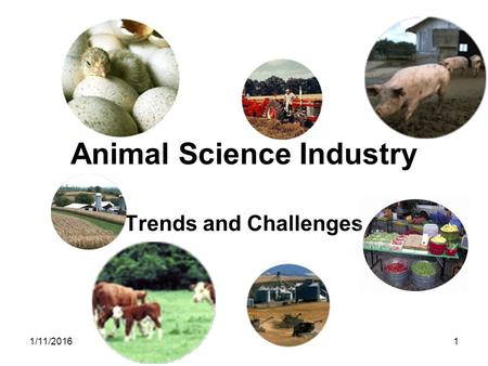 1/11/20161 Animal Science Industry Trends and Challenges.