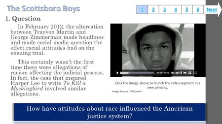 1. Question In February 2012, the altercation between Trayvon Martin and George Zimmerman made headlines and made social media question the effect racial.