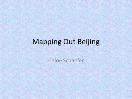 Mapping Out Beijing Chloe Schaefer. Attributes of Roads in Beijing City is served by five ring roads. From the center of the city outward they are:
