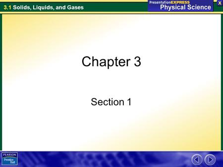 Chapter 3 Section 1.
