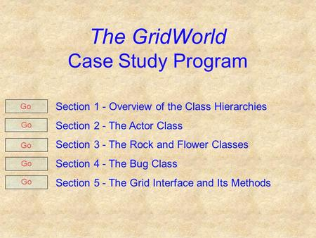 apcs gridworld case study solutions