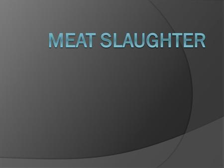 In the US  there are over 5000 plants that slaughter animals.