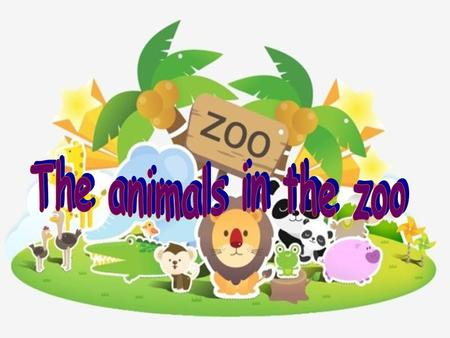 The animals in the zoo.