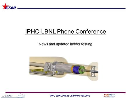 L. Greiner1IPHC-LBNL Phone Conference 05/2012 STAR IPHC-LBNL Phone Conference News and updated ladder testing.