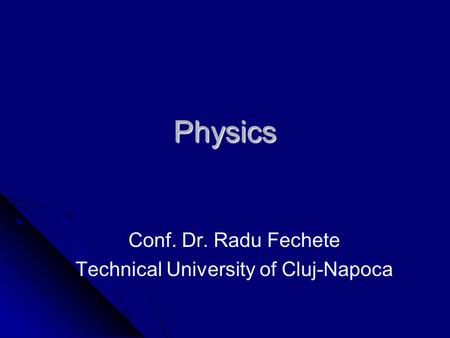 Physics different kinds of colleges