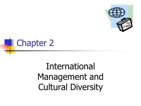 Chapter 2 International Management and Cultural Diversity.