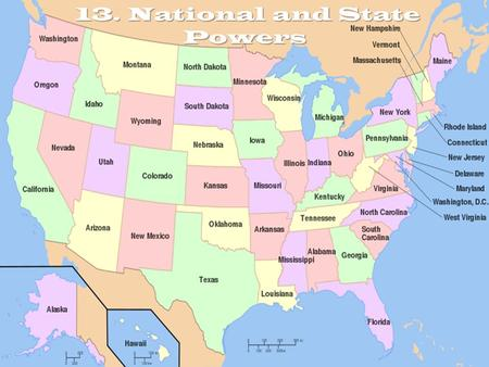 13. National and State Powers 13. National and State Powers.