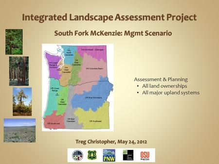Assessment & Planning All land ownerships All major upland systems.