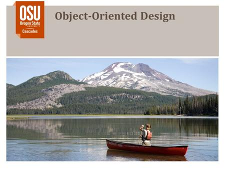 Object-Oriented Design. 1 Objects and concerns Objects have a concern, meaning they have a purpose Not concerned as in worried All code should have a.