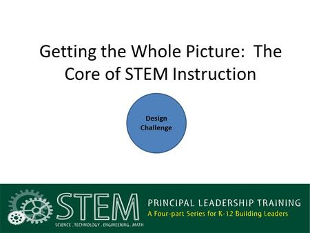 Getting the Whole Picture: The Core of STEM Instruction Design Challenge.