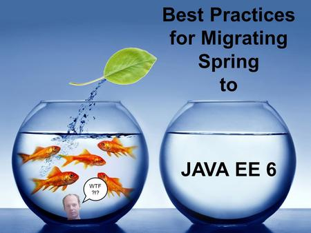 JAVA EE 6 Best Practices for Migrating Spring to WTF ?!?