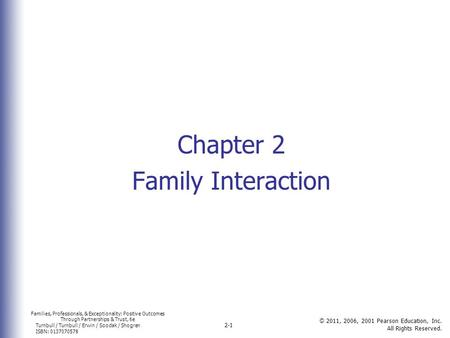 Chapter 2 Family Interaction.