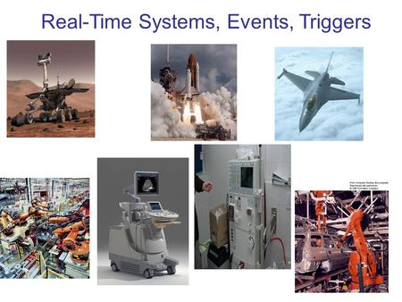 Real-Time Systems, Events, Triggers. Real-Time Systems A system that has operational deadlines from event to system response A system whose correctness.