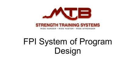 FPI System of Program Design. What is the FPI System? Created to help me filter new information and option while staying focused on the needs of each.