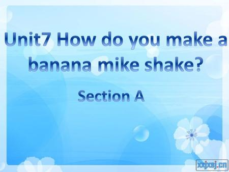 milk shake a banana milk shake blender knife ice-creambananas milk What do we need?