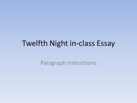 literary paragraph night