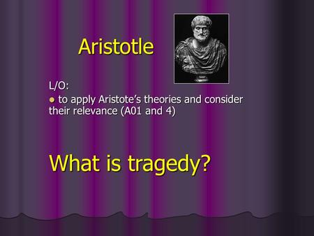 oedipus the king and aristotle tragedy essays