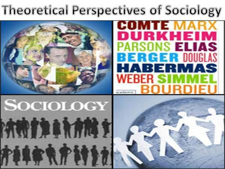 current event and sociological perspective Chapter 1: the sociological perspective  designed to explain and predict the events in the natural environment the other social sciences include  the current .