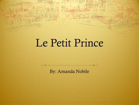 little prince by antoine de saint exupery pdf download