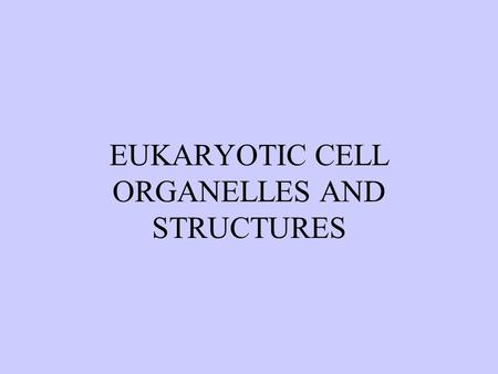 EUKARYOTIC CELL ORGANELLES AND STRUCTURES. Cytoplasm: The cytoplasm is the cellular region between the nuclear membrane and the plasma membrane; It consists.
