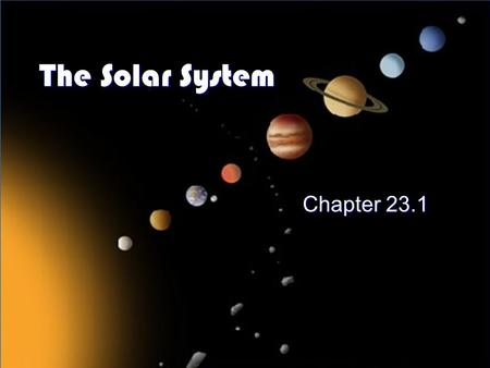 What makes up our solar system? The sun, planets, their ...