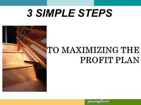 TO MAXIMIZING THE PROFIT PLAN 3 SIMPLE STEPS. Maximize to earn hundreds or thousands On the Fast Track.