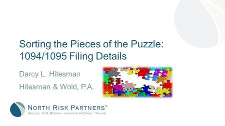 Sorting the Pieces of the Puzzle: 1094/1095 Filing Details Darcy L. Hitesman Hitesman & Wold, P.A.