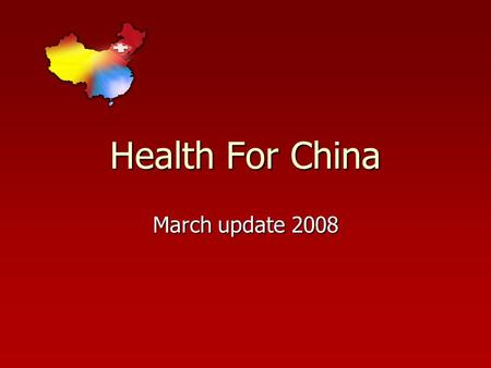 Health For China March update 2008. Li Ying Li Ying Li Ying's health condition suddenly became worse due to gastrointestinal bleeding. Now the bleeding.