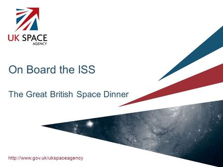 On Board the ISS The Great British Space Dinner.