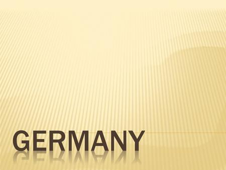  Germany is a country in West-Central Europe. Germany has a long history from the holy Roman Empire to the Unification, the First World War and Second.
