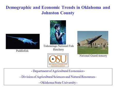 Demographic and Economic Trends in Oklahoma and Johnston County - Department of Agricultural Economics - - Division of Agricultural Sciences and Natural.