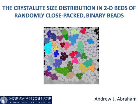 Andrew J. Abraham. Definitions Crystalline Solid: A solid which exhibits an orderly, repeating, and long- range pattern to the locations of the atoms.
