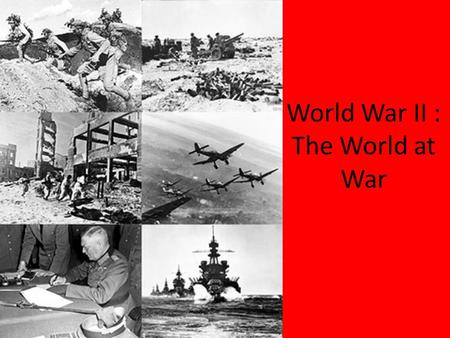 World War II : The World at War. Neutral United States 1920s-1930s U.S. practiced isolationism (kept out of international affairs) President Franklin.