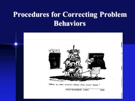 Procedures for Correcting Problem Behaviors Artesani 2010.