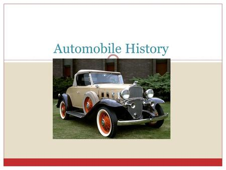 Automobile History. The definition of a automobile A passenger vehicle designed for operation on ordinary roads and typically having four wheels and a.