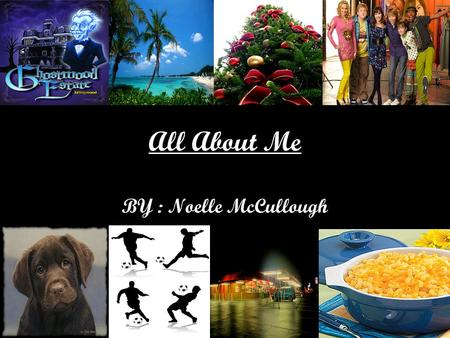 All About Me BY : Noelle McCullough. Favorite Memory My favorite memory was when I went to Hawaii for the very first time because it was for the proball.