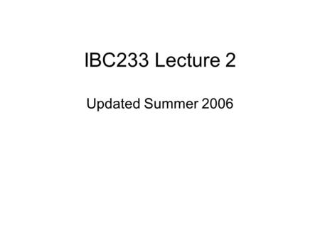 IBC233 Lecture 2 Updated Summer 2006 Agenda Review What's ODIN doing? Library List Websphere –Filters.