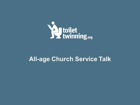 All-age Church Service Talk. Are we willing to let poverty be personal?