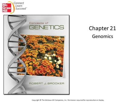 Chapter 21 Genomics Copyright © The McGraw-Hill Companies, Inc. Permission required for reproduction or display.