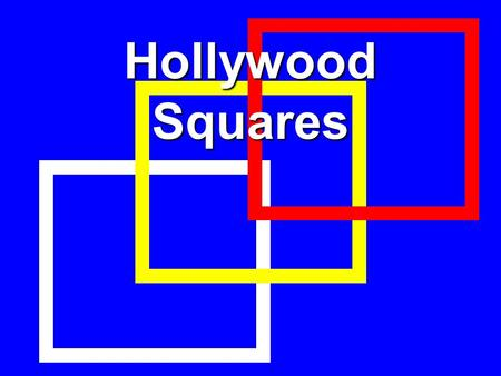 hollywood squares powerpoint template - gallery of artists frame 1 frame 2 frame 3 ppt download