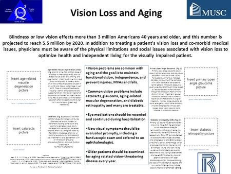Blindness or low vision effects more than 3 million Americans 40 years and older, and this number is projected to reach 5.5 million by 2020. In addition.